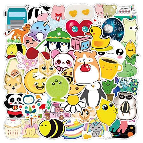 CHENX Pegatinas de Grafiti de Animales de Dibujos Animados Bonitos, Pegatinas para Nevera de Coche, Taza de Agua, para Equipaje, portátil, Scooter, 50 Uds.