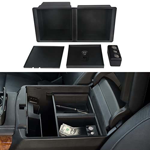 VANJING Center Console Organizer Tray for Select 2014-2018 GM Vehicles Silverado Sierra Suburban Tahoe Yukon Front Floor Insert Tray-Replaces 22817343