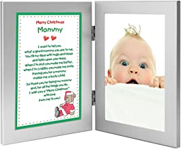 Merry Christmas Mommy Gift, Poem in Xmas Design from Son or Daughter - Add Photo