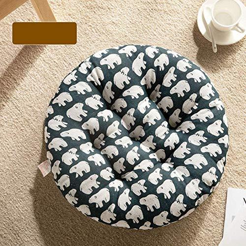 AQWESD Chair Cushion Round Seat Cushion Outdoor Garden Patio Home Cushion Cushion Chair With Tie Garden Restaurant Home Office Chair Cushion Cotton