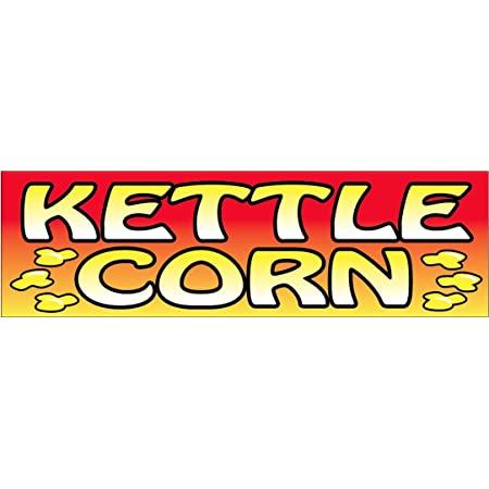 rb KETTLE CORN Vinyl Banner Sign 2x4 ft