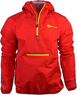 (Extra Large) - Rat Race Waterproof Smock Jacket Lightweight Men's Ladies Women's Camping Hiking Fitness Red Yellow