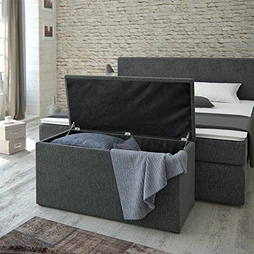 Designer Boxspringbett Berlin 2 mit Nachttisch oder Box kaufen  Bild 1*