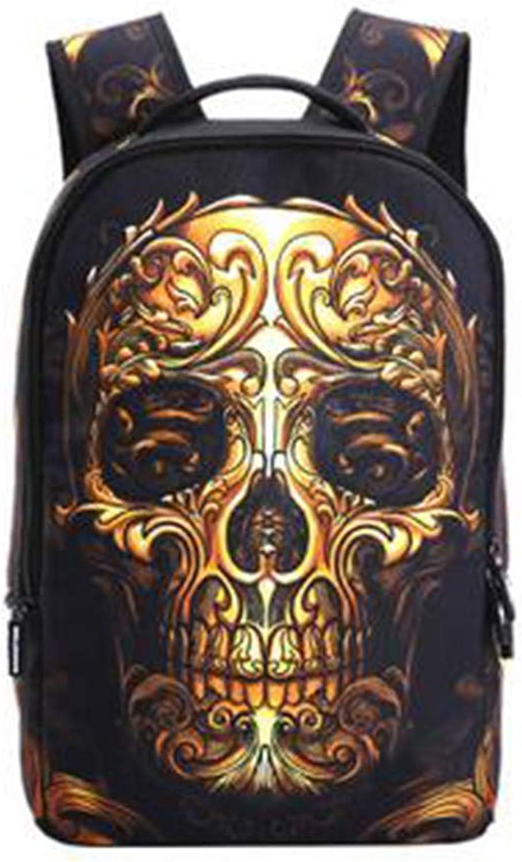 Allenshopping 3D Skull Print Laptop Backpack for Men School Backpack Casual
