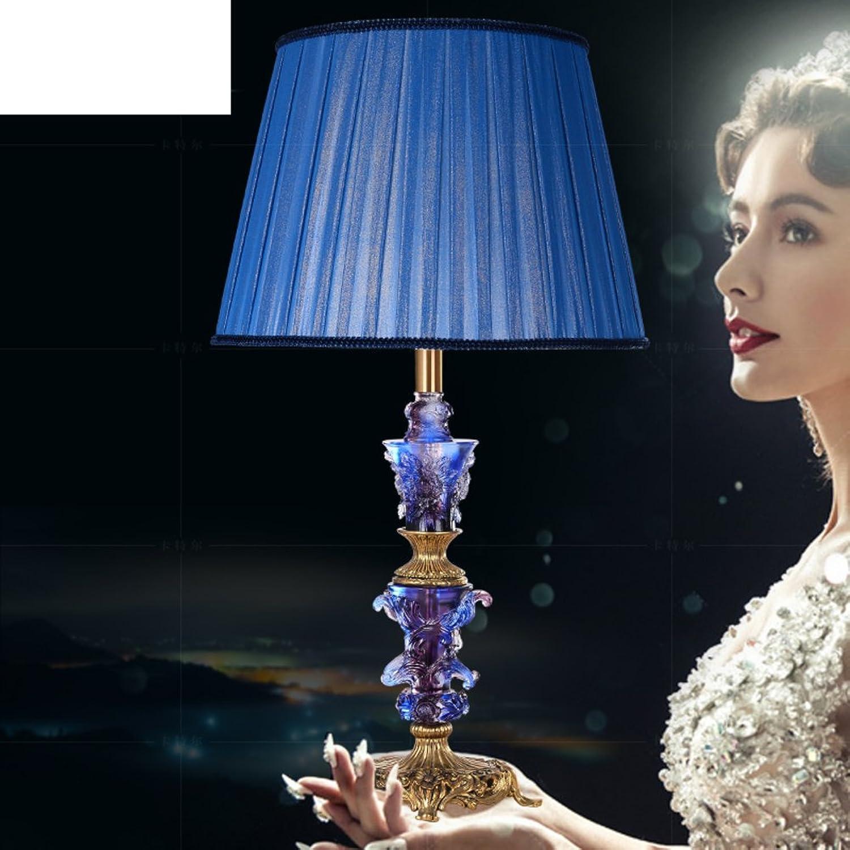 Luxuriöse,Kreative,Europäisch,Kristall-tischleuchte Living Room,Amerikanischen,Schlafzimmer Bett Lampe Voll-messing Lampe-A B071NX1DNX | Neuer Stil