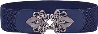 Womens Vintage Wide Elastic Stretch Waist Belt Retro Cinch Belt