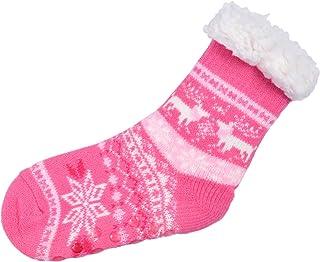 Alsino, Calcetines de invierno para casa, talla única, 25-30, antideslizantes, con forro térmico suave, estilo noruego