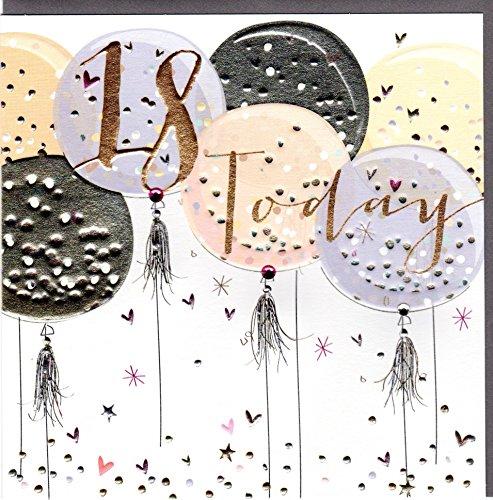 Belly Button Designs hochwertige Glückwunschkarte zum 18. Geburtstag.