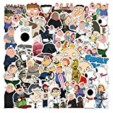 cillop Family Guy - 100 Pieces American Classic The Family Guy Laptop Stickers Vinyl Decal Waterproof Skateboard Car Snowboard Bicycle Luggage