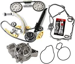 MOCA Timing Chain Water Pump Kit with Gasket for 2002-2005 Chevrolet Cavalier & Pontiac Grand Am 2.2L L4 Dohc Vin Code