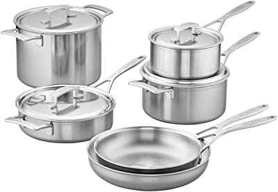 Demeyere Industry 5-Ply 10 Piece Stainless Steel Cookware Set