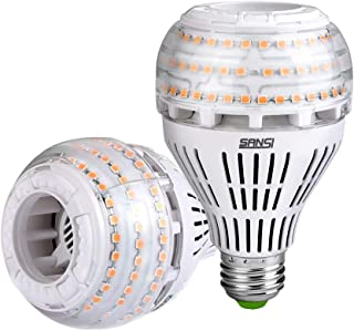 SANSI Bombilla LED E27 Luz Calida 3000K, 27W Bombillas LED(250W Euivalente), 4000 Lumenes, A21 Regulable Paquete de 2
