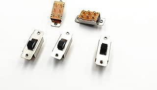 LXM 5 Pcs On/Off 2 Position DPDT 2P2T PCB Panel Slide Switch 6A/125V 3A/250V AC (KAI-02)