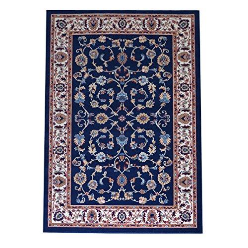 tappeto salotto classico WEBTAPPETI.IT Tappeto Orientale per Salotto Stile Classico Persian 2079-BLU Parure (3 Pezzi)