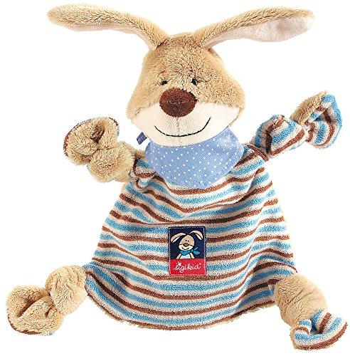 SIGIKID 47893 Schnuffeltuch Hase Semmel Bunny Mädchen und Jungen Babyspielzeug empfohlen ab Geburt blau/beige