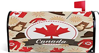 henfar Happy Canada Day Mailbox Covers Magnetic Post Box Cover Wrapped Oversize 25.5