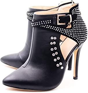 Ankle Boots for Women,Bare Legged Pointed Women's Boots, Rhinestone Booties Black