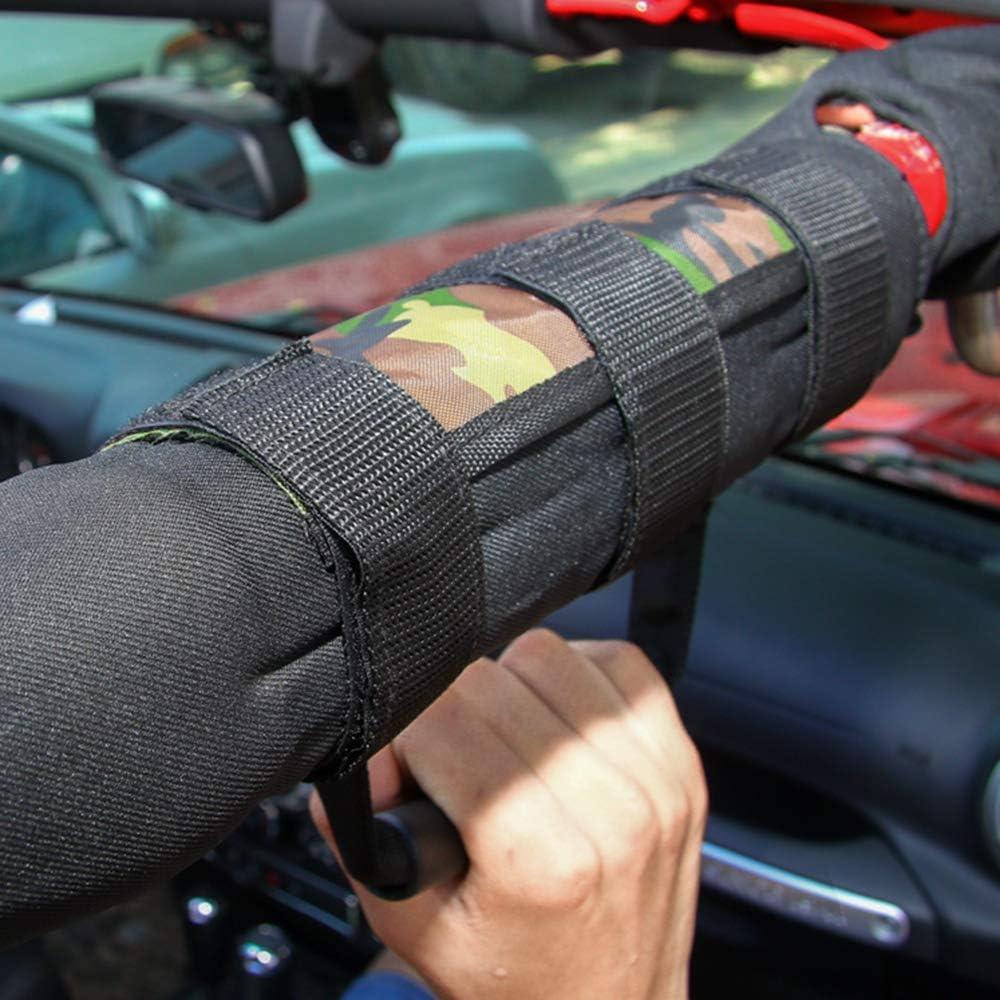 KKmoon 4 St/ücke Auto Griff Haltegriff Roll Bar Haltegriff Griff Fit f/ür Jeep Wrangler Schwarz