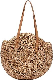2cc6682f459dda Rattan Tasche Handarbeit Mimiga Schultertasche Creative Strohtasche Runde  Sommertasche Einkaufstasche Für Reisen Und Den Täglichen Gebrauch