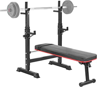 Fitness Weight Bench Set 100Lb Bar Press Barbell Dumbbell Home Gym Workout Exerc