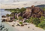YYTOOF Seychelles - Coastal Jungle Beach 9033345 (¡Rompecabezas Premium de 500 Piezas de 52*38cm Hecho en EE. UU.!)