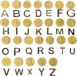 Wood Burning Tips Letters Uppercase Alphabet Branding and Personalization Set for Wood and Other Surfaces by Wooden Letters (Include 26 Letters and 6 Stencils)