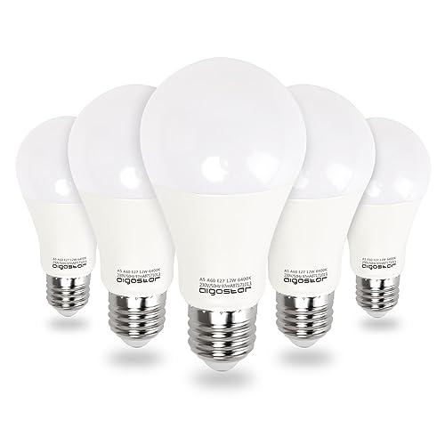 Aigostar - Bombilla LED E27 12W equivalente a 100 W, 6400K,1020 lúmenes,
