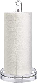 STORi Clear Plastic Portable Paper Towel Holder
