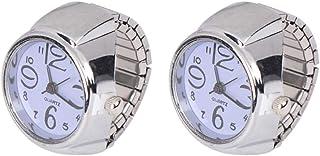 Hemobllo 2 pezzi orologio ad anello - orologio da dito - orologi al quarzo - orologi da donna anello creativo per donna do...