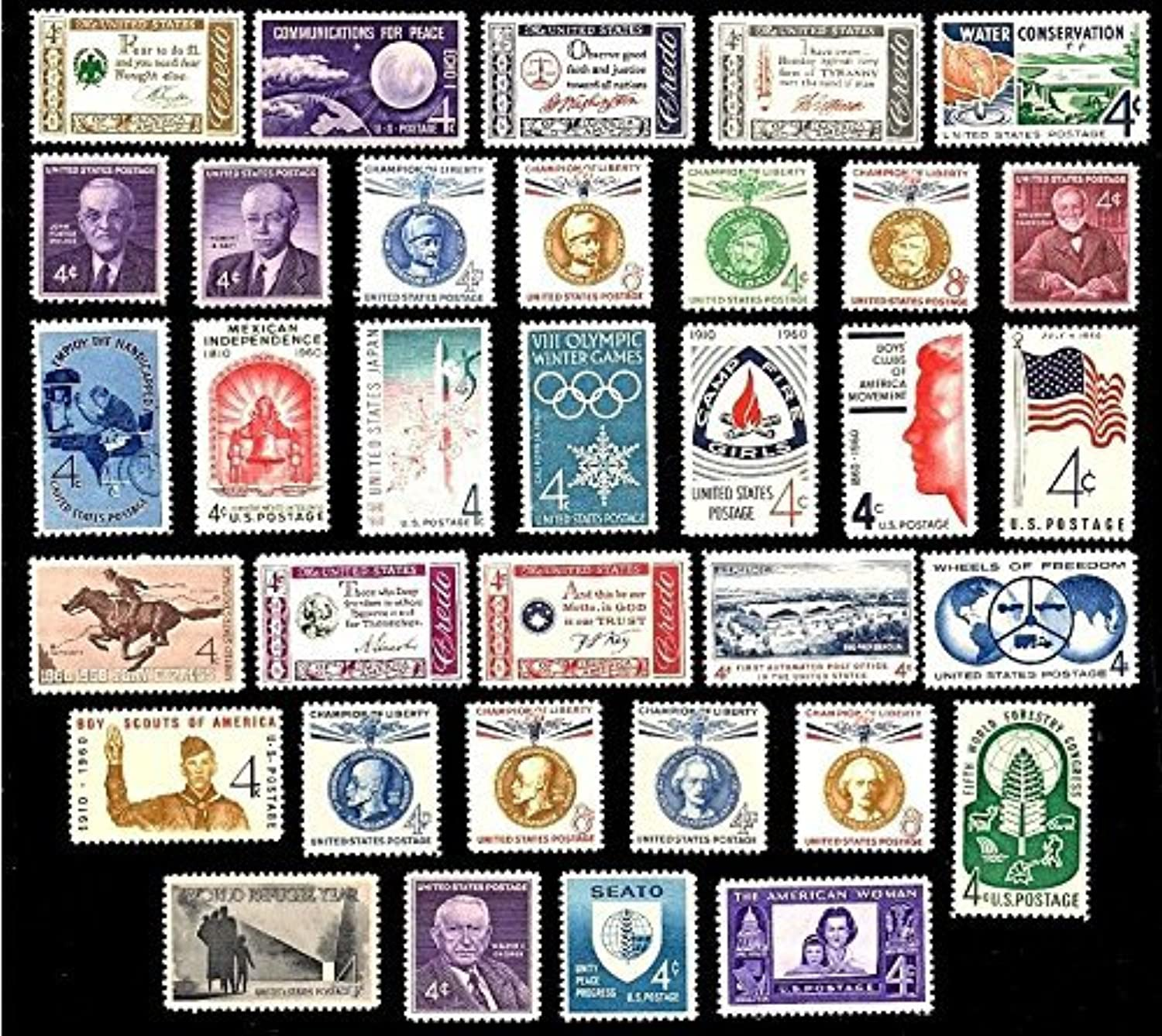 1960 Year Set of 34 Commemorative Stamps Mint NH Scott 1140-73 By USPS by USPS B01MQE163K   Shopping Online