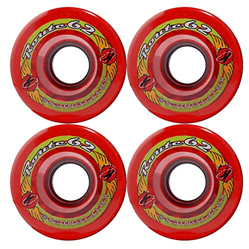 KRYPTONICS Route 62MM 78A RED Longboard Cruiser Skateboard Wheels