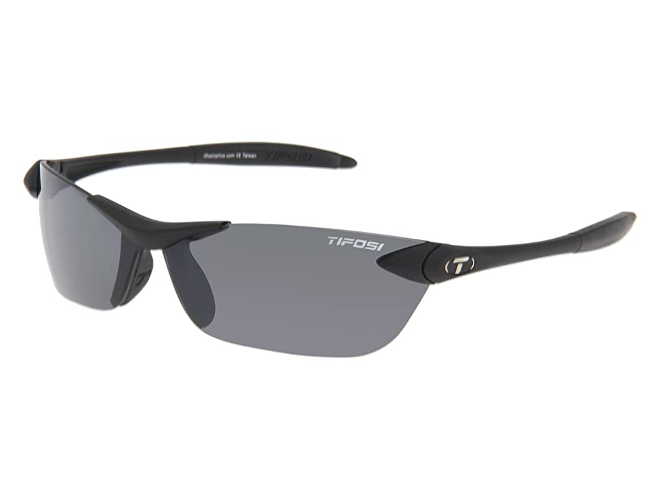 Tifosi Optics Seektm (Matte Black/Smoke GG Lens) Athletic Performance Sport Sunglasses