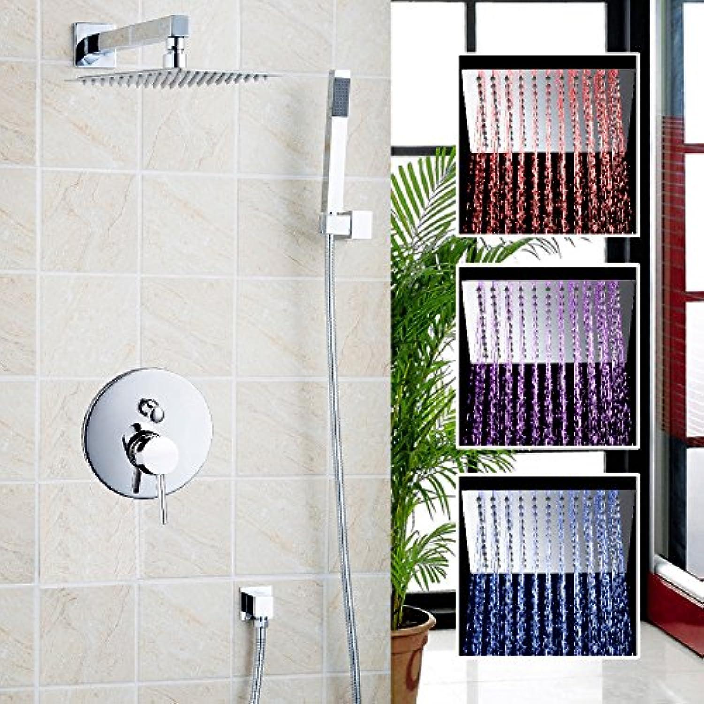 Luxurious shower Badezimmer in der Wand, in der Dusche Set mit 8  Regendusche Chuveiro eingerichtet Dusche Hotel regen Duschkopf Chrom poliert LED