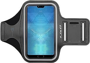 J&D Compatible para Huawei Honor 10/Huawei Honor 8S Brazalete, Brazalete Deportivo para Huawei Honor 10, Ranura para Llaves, Conexión Auriculares Mientras Ejercicios y Carreras - Negro