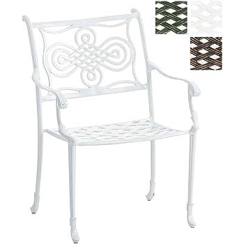 Stuhl Rajana Gartenstuhl Aluminium-Guss Stapelstuhl Antik