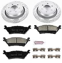 Power Stop K6271 Rear Brake Kit with Drilled/Slotted Brake Rotors and Z23 Evolution Ceramic Brake Pads