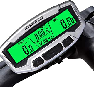 Raniaco Bike Computer, LCD Backlight Automatic Wake-up Multifunctions Cycle Computer Wired Waterproof Bicycle Odometer Speedometer