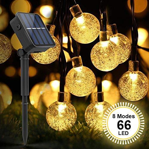 Cadena Solar de Luces, Guirnalda de Luces, SYOSIN Luces Decorativas, IP65 Impermeable...