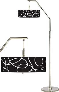 Abstract Giclee Shade Arc Floor Lamp - Giclee Glow
