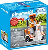 PLAYMOBIL- City Life Patinete de Equilibrio de Rescate, Color carbón (70052)