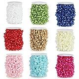 30m Angelschnur, künstliche Perlen, Kette, Garland-Blumen, Hochzeitsparty, Deko, Party-Zubehör elfenbeinfarben - 5