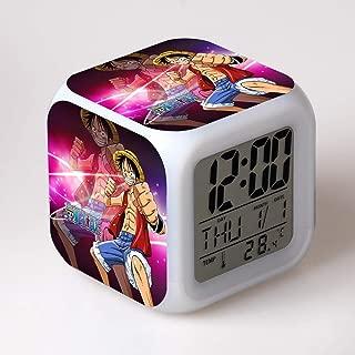 ZZTX FASHION Despertador para Niños, Despertador de Cabecera con Luz Nocturna de 7 Colores, Mini Music Wake Up Alarm Clock con 8 Sonidos, Regalo para Niños Niñas,D