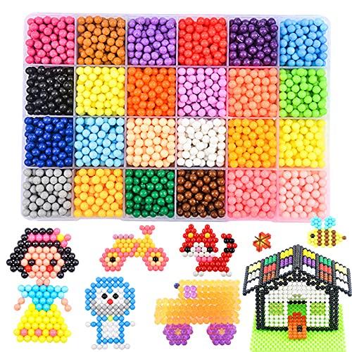 Megadream Water Beads for Children, Kids Puzzle 3D Spray Beads Toy, 50,000 Water Gel Balls for Children Puzzles Game, DIY Crystal Mud, Decoration, Vases Fillers