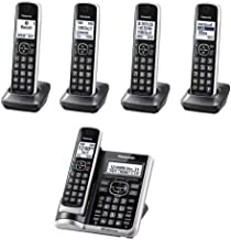 Panasonic KX-TG885SK ( 5 Handset ) Cordless Phone with Answering System, DECT 6.0 Technology Link2Cell Bluetooth Enabled, Talking Caller ID (Renewed)