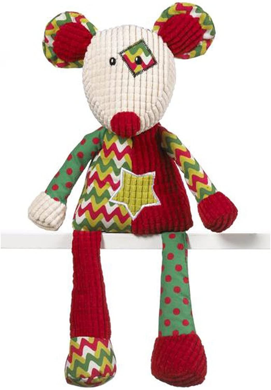 Ganz Christmas Holiday Quiltees Mouse 14  Inches tall