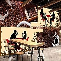 壁紙の壁画大きな壁の絵 カスタム3Dポスター写真壁紙コーヒーショップカフェレストランキッチンツーリング背景壁の装飾壁画-350X250CM