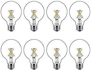 Philips LED Classic Glass Dimmable G25 Light Bulb: 500-Lumen, 2700-Kelvin, 5.5 Watt, E26 Base, Warm Glow, 8-Pack