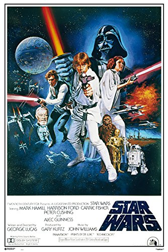 Star Wars - Orange Sword of Darth Vader - Filmposter Kino Movie Science Fiction Sci Fi - Grösse 61x91,5 cm + 1 Ü-Poster der Grösse 61x91,5cm