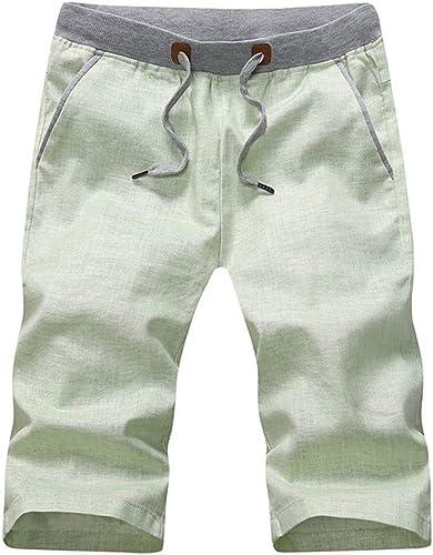 WYX Pantalons pour Hommes Décontracté 1 2 courtes Pantalons De Sport D'été Leisure Loose courtes,C,L