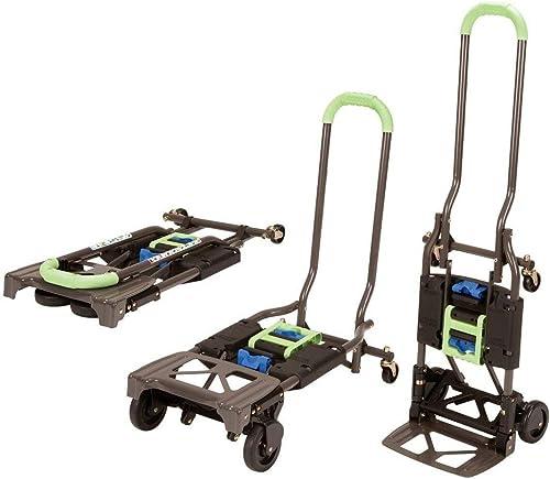 Shifter 300-Pound Capacity Multi-Position Heavy Duty Folding Dolly, Green Hand-Trucks - New